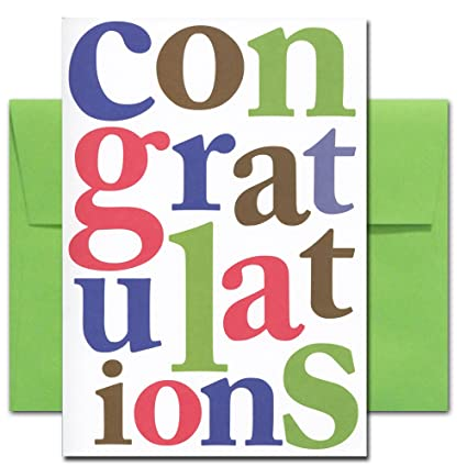 congratulations cards letters of congratulation box of 10 cards envelopes - Congratulations Cards