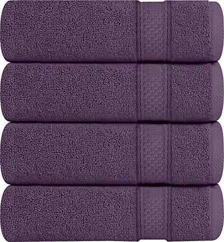 Utopia Towels Premium Bath Towels, 4 Pack, 700 GSM Towels, Plum (Towel Purple Set)