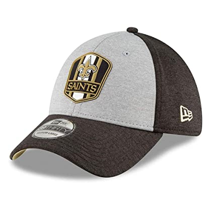huge discount e6a26 143c4 Amazon.com  New Era New Orleans Saints On Field Sideline 18 Road 3930  39thirty Cap Curved Visor S M NFL  Clothing