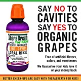 TheraBreath for Kids Dentist Recommended Anti Cavity Fluoride + Xylitol Oral Rinse - Organic Gorilla Grape Flavor, 16 Ounce (Pack of 2)