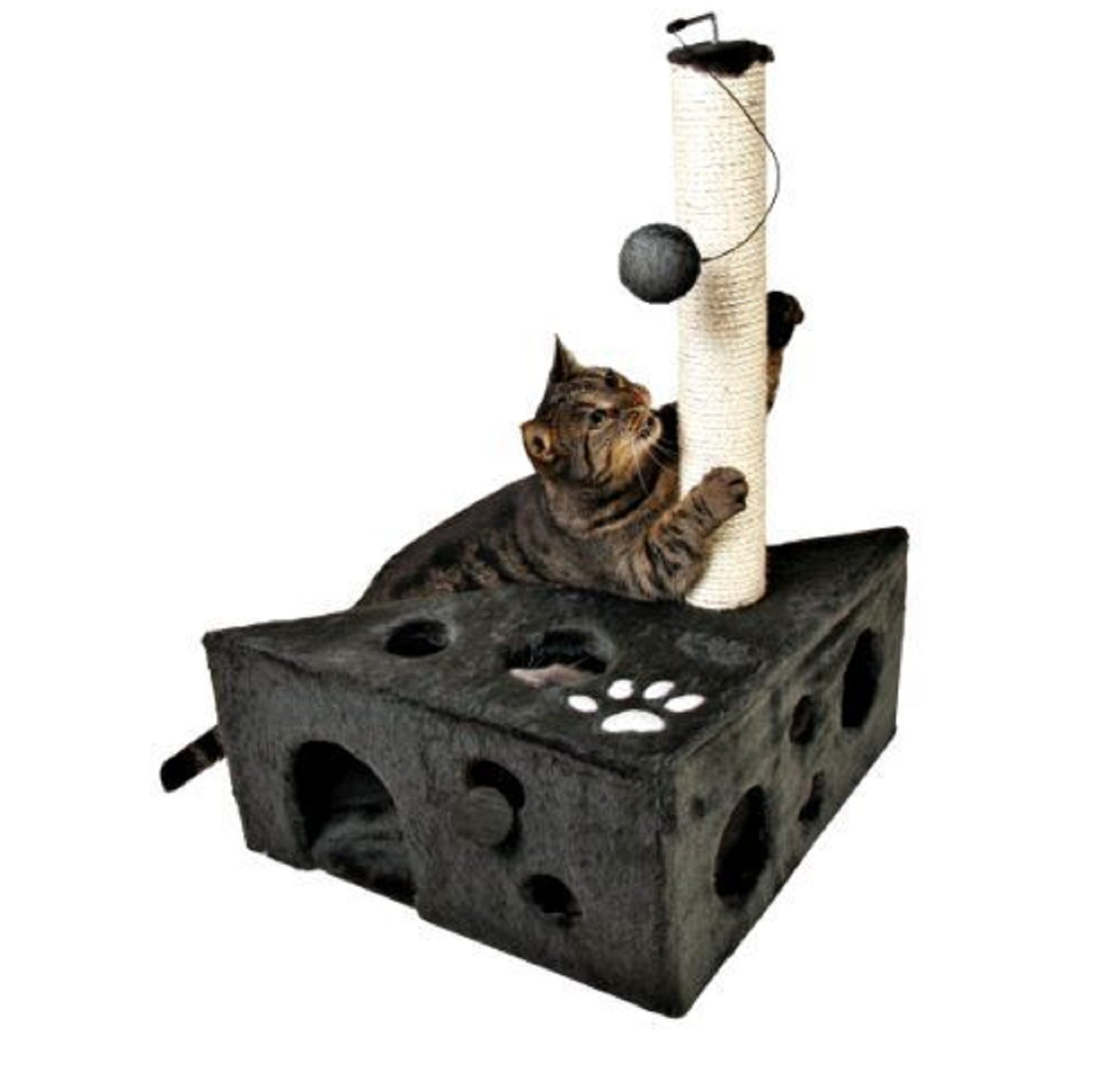 Hot Sale! Cat House Tower Scratcher Post Bed Condo Pet Play Kitten Toy Furniture Cave Tree