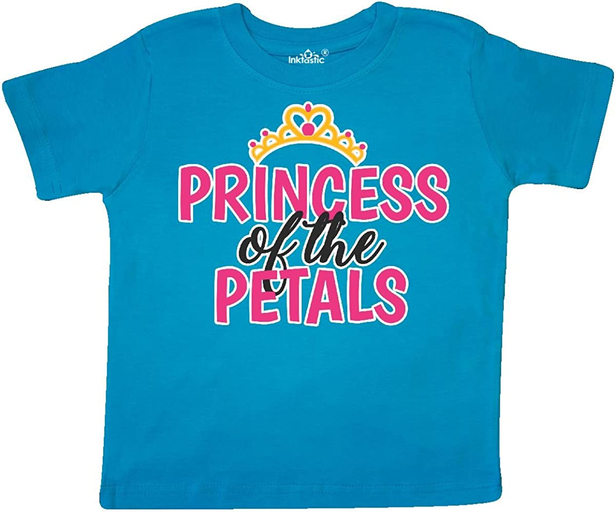 inktastic Princess of The Petals with Crown Toddler T-Shirt