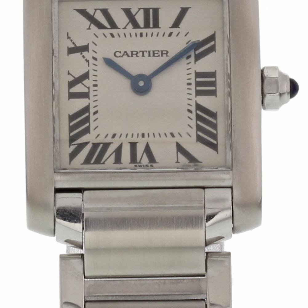 Cartier Tank Francaise quartz womens Watch 2384 (Certified Pre-owned)