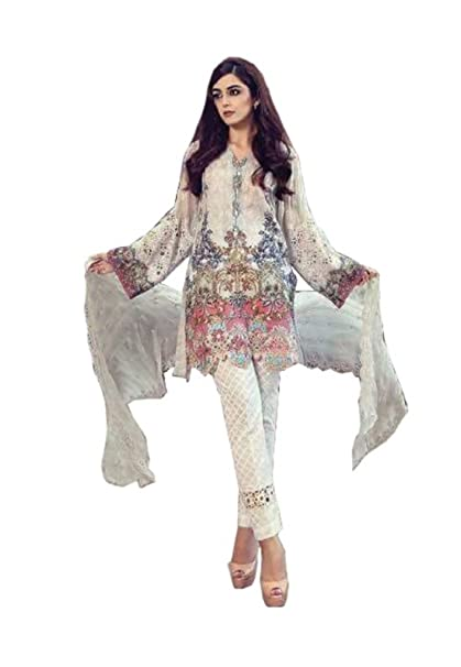 0b1ccdb8312 Madeesh Pakistani Suits for Women Party Wear