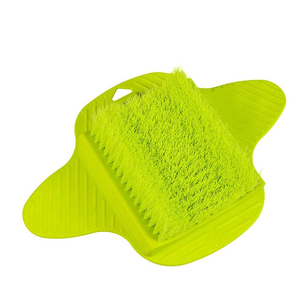 Slendima 13.78'' x 9.06'' x 2.76'' Useful Foot Scrub Sucker Brush,Exfoliating Bath Shower Spa Feet Scrubber Washer Random Color