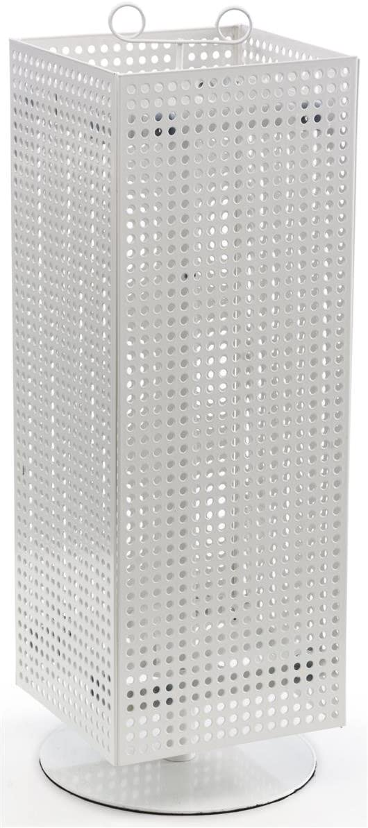"B00P8BWMBQ Displays2go Counter Pegboard Spinner Rack, Magnetic, 28"", White Steel (MD4PCTWH) 61u18GIDwoL"