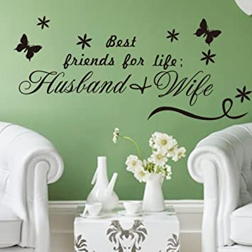 Amazon Com Wsdaa Vinyl Diy Removable Wall Stickers Best Friends For