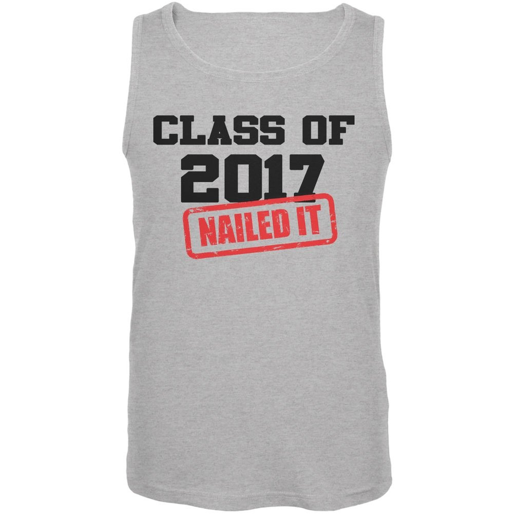 Old Glory Graduation Class of 2017 Nailed It Heather Grey Adult Tank Top