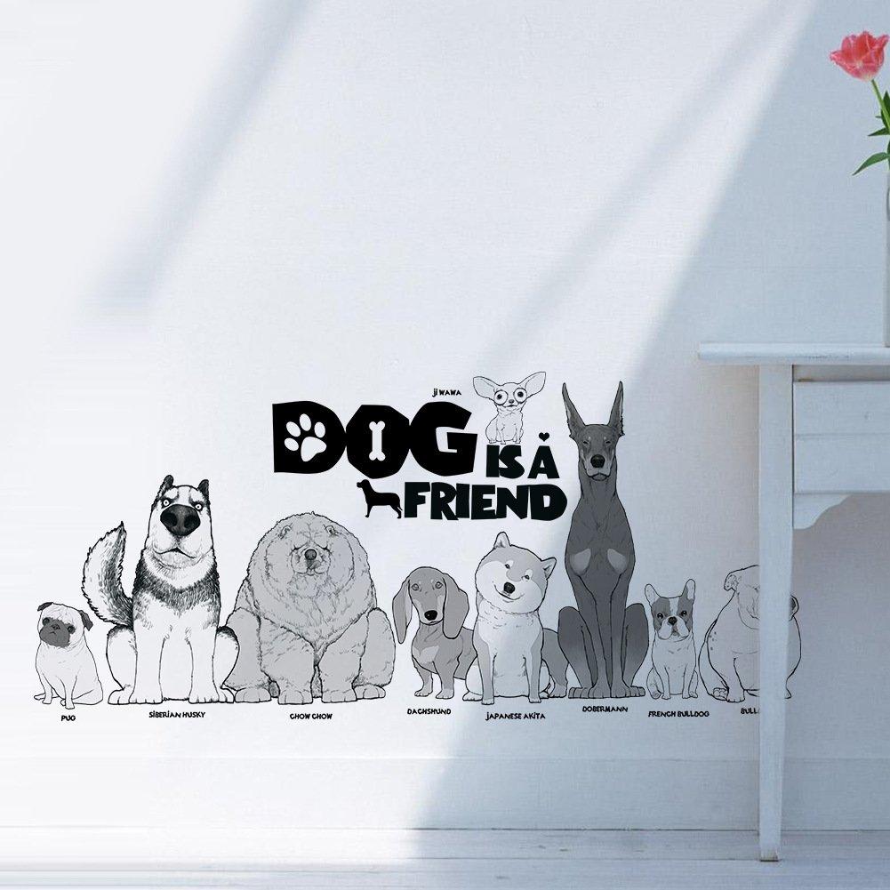 Amazon.com: AWAKINK Cute Dogs Puppy Pet Wall Stickers Wall Decal ...