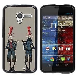"""For Motorola Moto X Motorola Moto X ( 1st Generation ) Case , Extranjero Hombre de dibujos animados del zombi Arte"""" - Diseño Patrón Teléfono Caso Cubierta Case Bumper Duro Protección Case Cover Funda"""