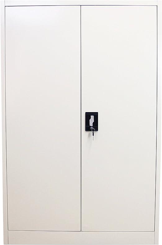 140cm schwarz Aktenschrank Abschließbar Büroschrank Metallschrank Büro Schrank