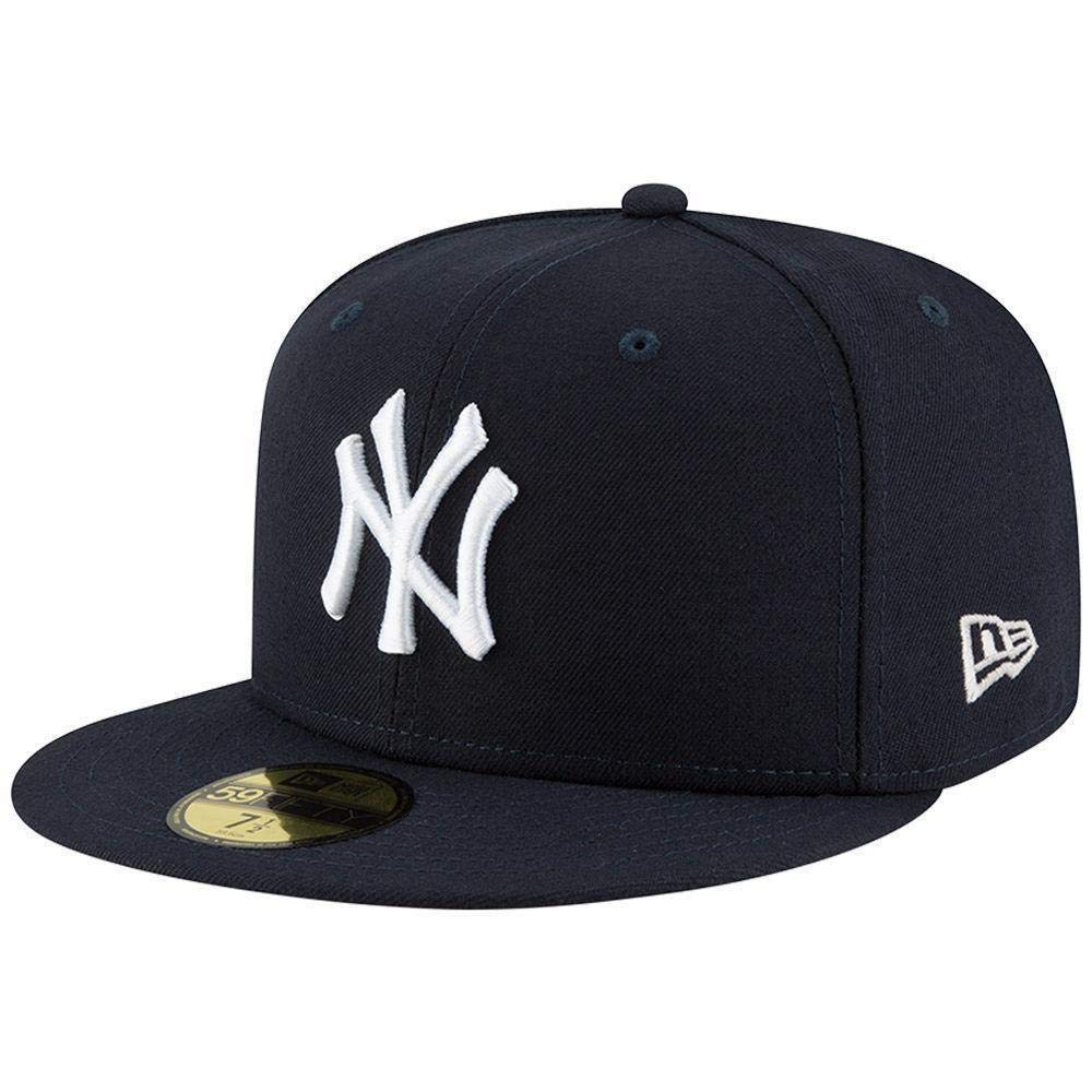 New Era Mens New York Yankees MLB Authentic Collection 59FIFTY Cap, Size 8 XLarge Long or Tall or Large