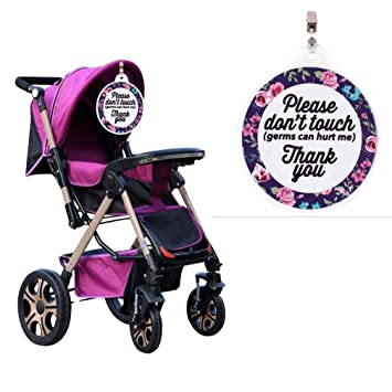 Baby Safety Sign Please Don/'t Touch For Baby Newborn Stroller Tag Car Seat Sign