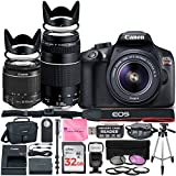 Canon EOS Rebel T6 DSLR Camera with Canon 18-55mm IS II Lens Bundle + Canon EF 75-300mm f/4-5.6 III Lens + 32GB Memory + Filters + Monopod + Spider Tripod + Camera Works Professional Bundle For Sale