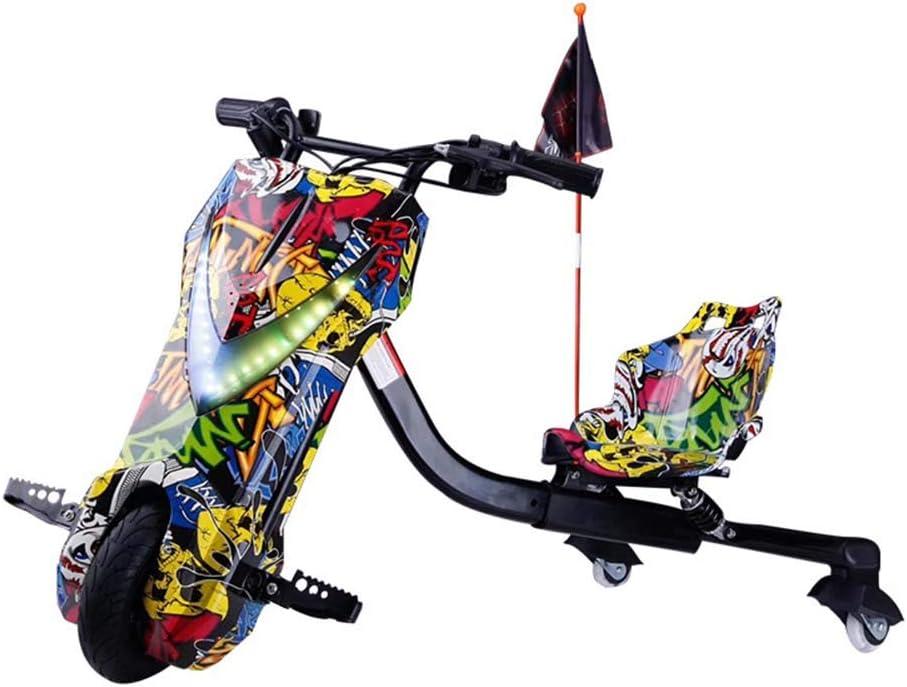 NO BRAND Triciclo Eléctrico Drift, Juguetes para Niños, Kart Eléctrico, Vespa, 12V Batería De Litio Equilibrio del Coche, Adecuado para Niños Mayores De 6 Años