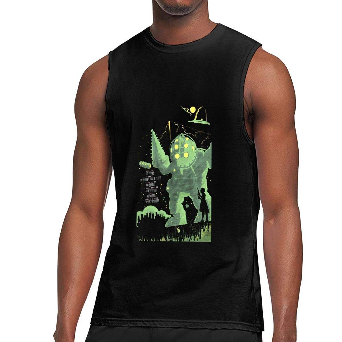 Zpanter S Sleeveless T Shirts Bioshock Workout Tank Tops Gym Bodybuilding Tshirts Black