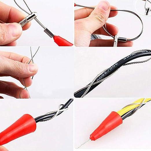 mit Kabelspanner Push Puller Fiberglas Zubeh/ör Snake Wire Fish Tape Set Kabelschieber Schlauchspule Rodder Zugdraht