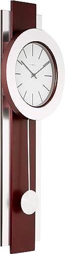 Howard Miller Bergen Wall Clock 625-279 Modern Round with Pendulum Quartz Movement