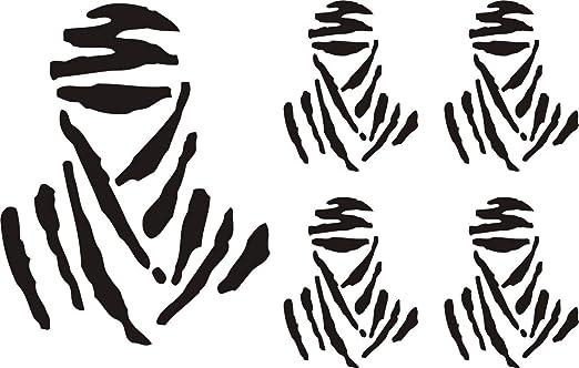 Pegatina Vinilo Logo Dakar España - Casco, Coche, Moto, Bici, Tabla Skate, etc. Kit de 5 Pegatinas …: Amazon.es: Hogar