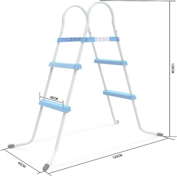 Alices Garden - Escalera simétrica de 2 perfiles (para piscina de una altura de 84 cm como máximo): Amazon.es: Jardín