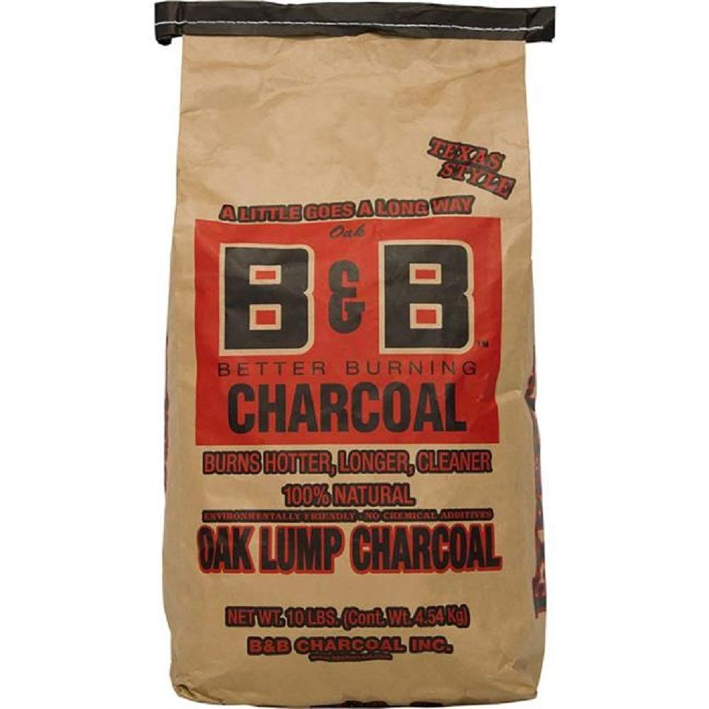 Oak Lump Charcoal 10lb by B andamp; B Charcoal