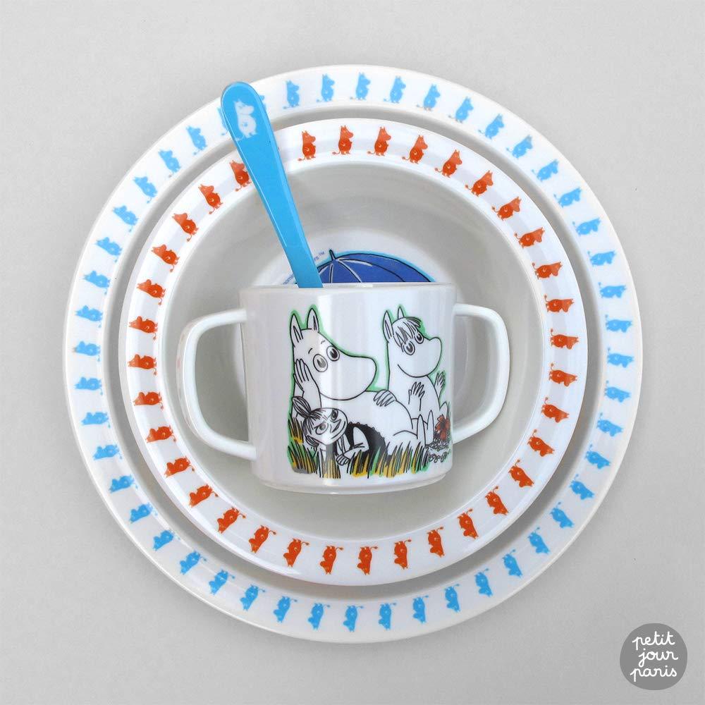 Petit Jour Paris Coffret vaisselle 4 pi/ècesMoomin Favorise lautonomie