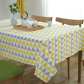 Moderne Einfachheit Gelb und Grau Dreiecke Tischdecken Nordic ...
