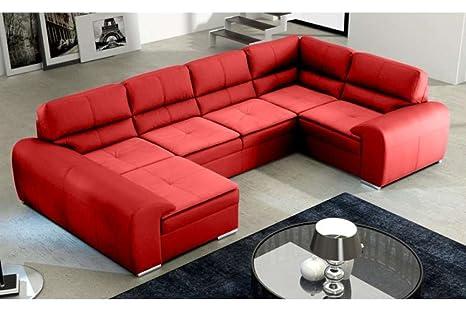Divano Rosso Pelle : Justhome omega duo divano a u divano imbottito divano angolare