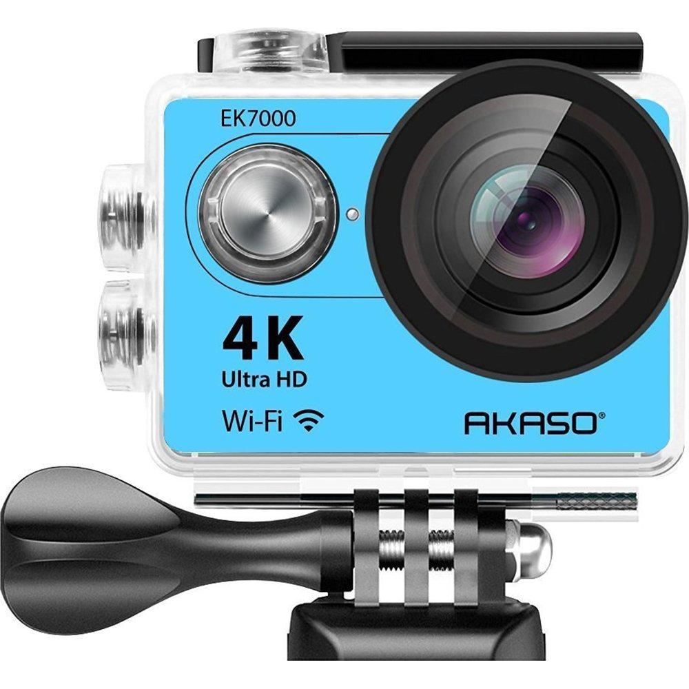 AKASO 4KスポーツアクションカメラウルトラHD防水DVカムコーダー12MP 170度広角LCDスクリーン/リモート、ロイヤルブルー(EK7000BL)【並行輸入】   B01LMVIS18