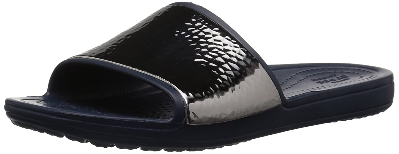 70bdb7b95bcf Crocs Women s Sloane Hammered Met Slide W Sandal  Amazon.co.uk  Shoes   Bags
