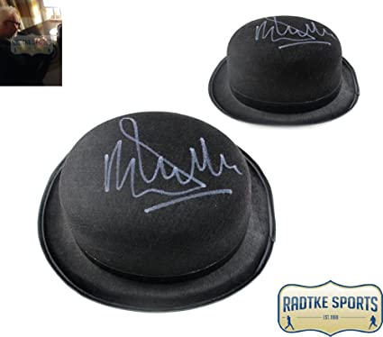 Amazon.com  Malcolm McDowell Autographed Signed A Clockwork Orange Bowler  Hat  Sports Collectibles f163591e3ad