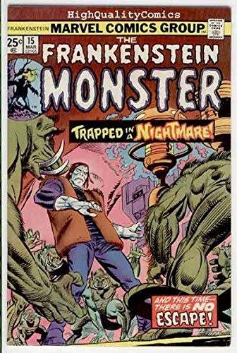 FRANKENSTEIN #15, Monster,Val Mayerik, Death, 1973, FN a
