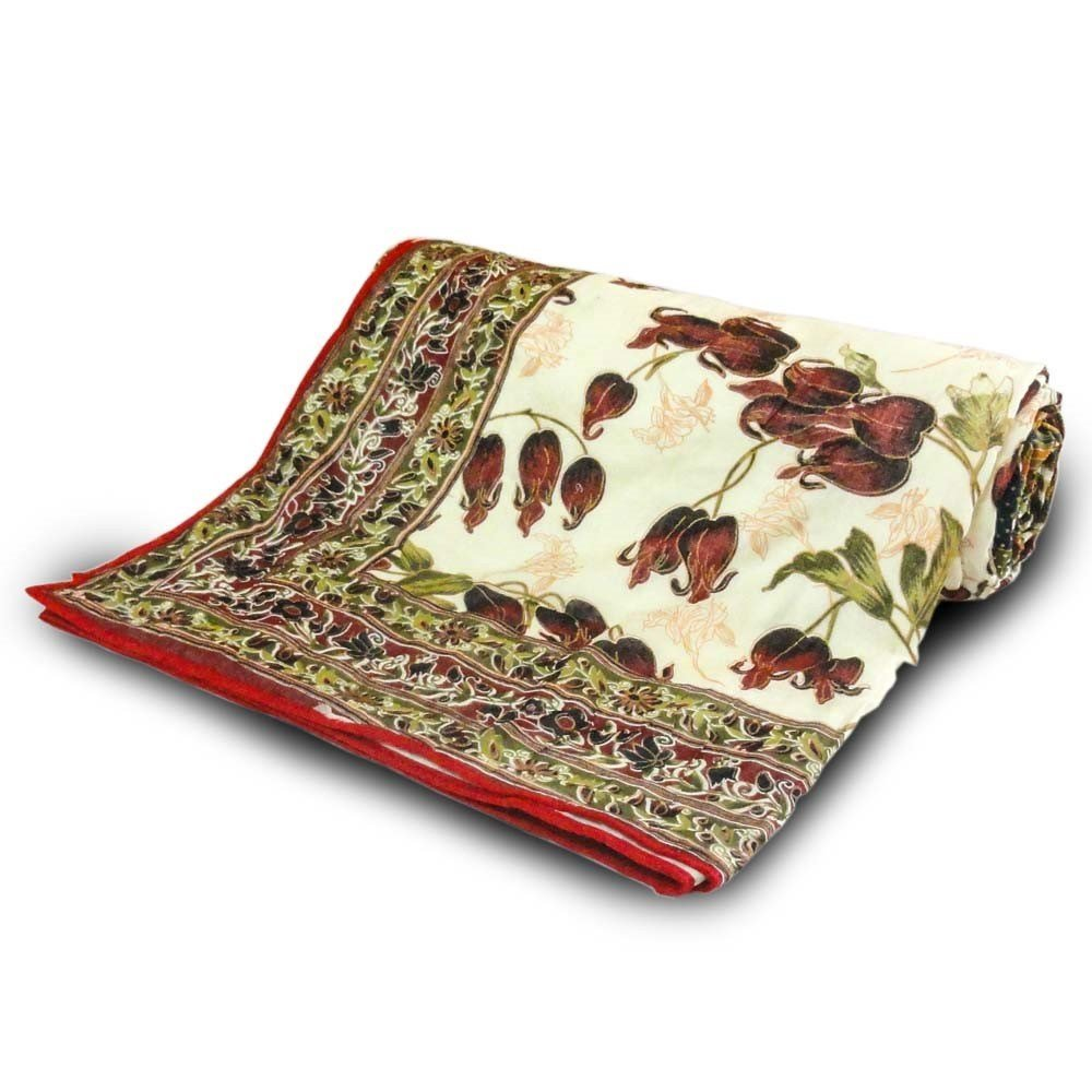 Little India Ethnic Floral Print Multicolor Double Bed AC Dohar 303