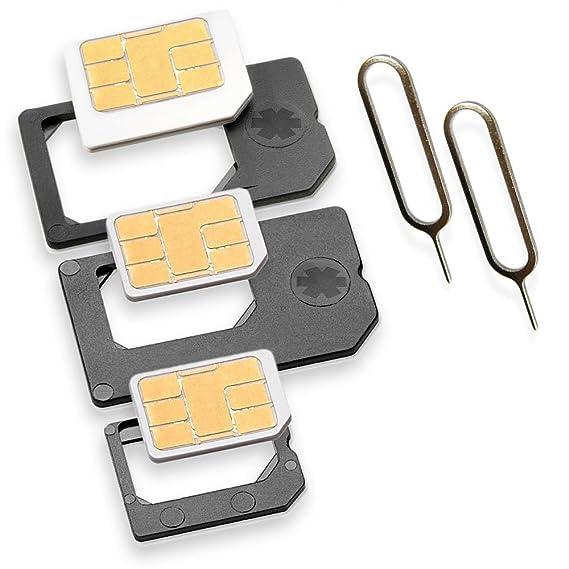 Nano Sim Karte Bilder.Nano Sim Und Micro Sim Adapter Komplett Set 5er Set Mit 2x Simnadel Eject Pin Adapter Sind Zur Verwendung Von Nanosim Und Microsim Karten Als Micro