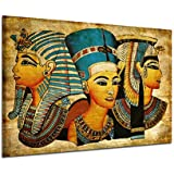 Kicode ファラオレトロモダン 40 * 60cm エジプトのアートポスター 壁画 オイルピクチャフルフィギュア リビングルームの家の装飾