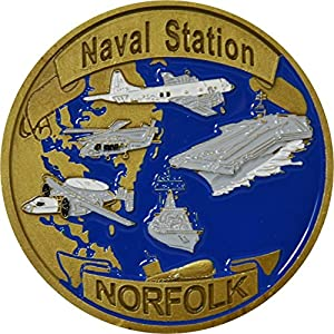 Naval Station, Norfolk Challenge Coin by Military Productions