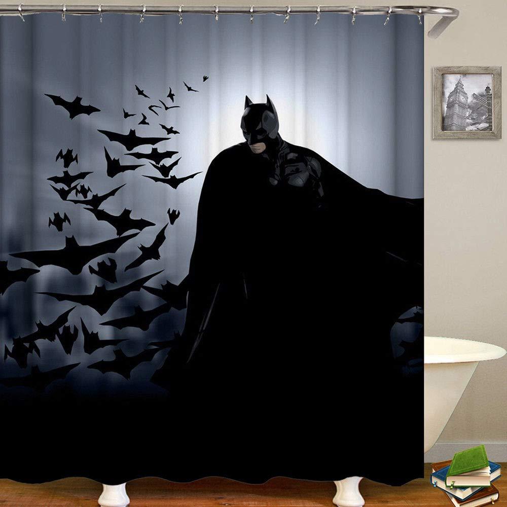 Aliyz Batman Home Hotel decoraci/ón del ba/ño Impermeable protecci/ón del Medio Ambiente Cuidado f/ácil Cortina de Ducha Cortina Tela de poli/éster 71x71 Pulgadas
