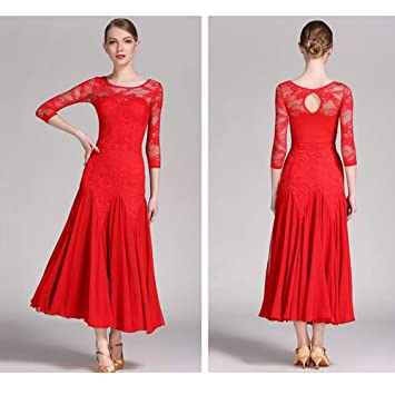 Amazon.com : WESEAZON Adults Latin Dance Dress Salsa Cha Cha ...