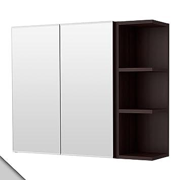 Portes1 Noir Ikea 2 D'extrémité Miroir Lill‿ngen Armoire Unité À D9YEH2IeW