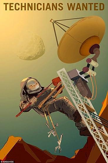 Astronaut Mars We Need You Job on Mars Moon Nasa Space Ship Poster Repro FREE SH