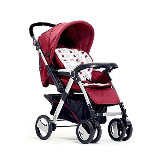 JIANXIN El Cochecito De Bebé Se Puede Empujar De Dos Maneras para Empujar El Carrito En Dos Direcciones. (Color : Red): Amazon.es: Hogar