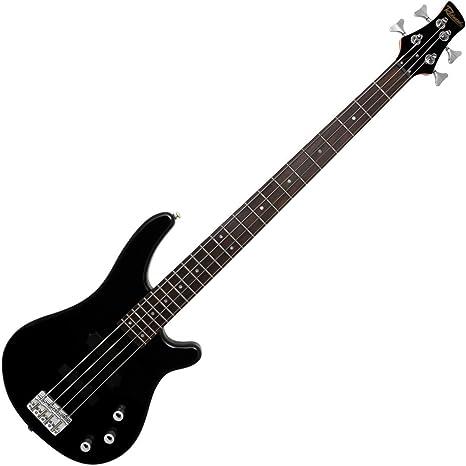 Redwood rb160 eléctrico 4 cuerdas Bass guitarra, cuerpo de aliso sólido – Negro