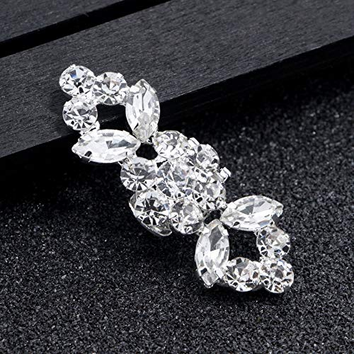 Cerimonia Piatte Da Tacco 1 Pompe 2 Scarpa Clip Moda Diamante Sposa Decorazione trasparente Di Pezzi Nuziale Scarpe Cristallo Fibbia Paio Alto IwzISTfqx
