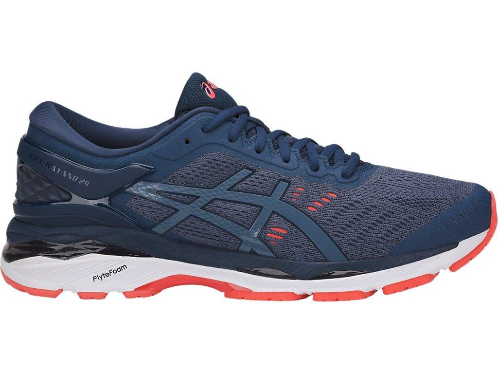 ASICS Men's Gel-Kayano 24 Running Shoes, 6M, Smoke Blue/Smoke Blue/Dark BLU