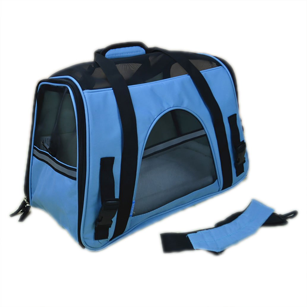 Light bluee S Light bluee S Soft Side Pet Carrier Airline Approved Pet Carriers Travel Carriers Bag for Dogs Cats (S, Light bluee)
