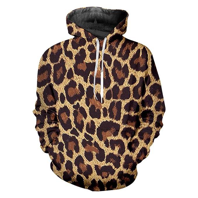 Bsrale Sudaderas Capucha Atractivas De Los Hombres Europeos Y Americanos ImpresióN En 3D Leopard Trend Sudaderas Cuello Redondo: Amazon.es: Ropa y ...