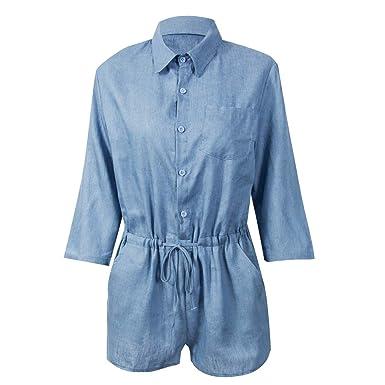 Manches Robe Denim T Greetuny Shirt Ixpkzou Jeans À Femme Chemise SVpzUMq