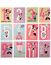 Disney Baby Girls Character Milestone Cards Gift Set, Minnie Mouse Milestone Cards, No Size