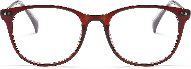 KOOSUFA Retro Brille Ohne St/ärke Rund Nerdbrille Pantobrille Brillengestelle Federscharnier Metallb/ügel Hornbrille Brillenfassung Schutzbrille Damen Herren mit Brillenetui