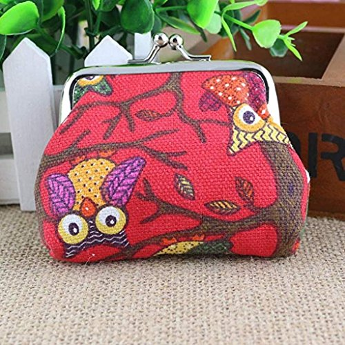 Owl Wallet Pockets Wallet Clutch Bags Lovely Fashion Coin Purse Small Women 2018 Red Clearance Handbags Hasp Noopvan Vintage Style BwPdOvvq